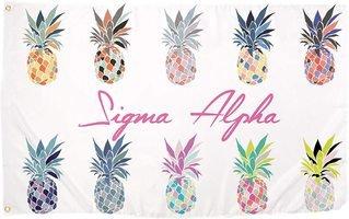 Sigma Alpha Pineapple Flag