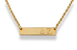 Delta Zeta Cross Bar Necklace
