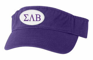 Sigma Lambda Beta Greek Oval Heavy Visor