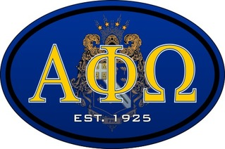 Alpha Phi Omega Color Oval Decal