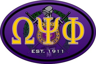 Omega Psi Phi Color Oval Decal