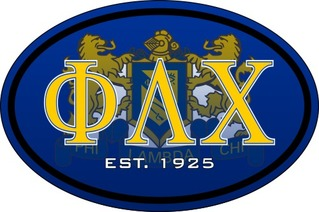 Phi Lambda Chi Color Oval Decal