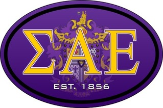 Sigma Alpha Epsilon Color Oval Decal