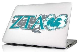 Zeta Tau Alpha 10 x 8 Laptop Skin/Wall Decal