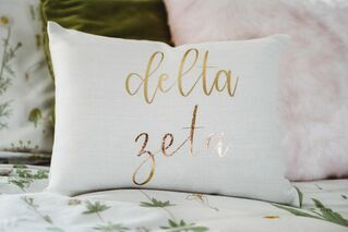 Delta Zeta Gold Imprint Throw Pillow
