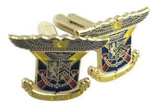 Delta Kappa Epsilon Color Crest - Shield Cuff links-ON SALE!-ON SALE!