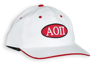 Alpha Omicron Pi Throwback Oval Game Hat