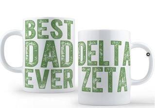 Delta Zeta Best Dad Ever Coffee Mug