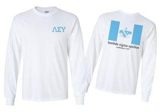 Lambda Sigma Upsilon Flag Long Sleeve T-shirt - Comfort Colors