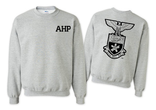 Alpha Eta Rho World Famous Crest - Shield Printed Crewneck Sweatshirt- $25!