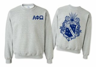 Alpha Phi Omega World Famous Crest - Shield Crewneck Sweatshirt- $25!