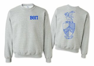 Beta Theta Pi World Famous Crest - Shield Printed Crewneck Sweatshirt- $25!