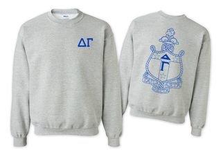 Delta Gamma World Famous Crest - Shield Crewneck Sweatshirt- $25!