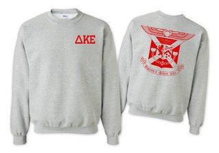 Delta Kappa Epsilon World Famous Crest - Shield Printed Crewneck Sweatshirt- $25!