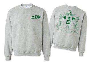 Delta Sigma Phi World Famous Crest - Shield Crewneck Sweatshirt- $25!