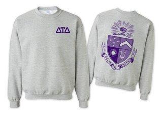 Delta Tau Delta World Famous Crest - Shield Crewneck Sweatshirt- $25!