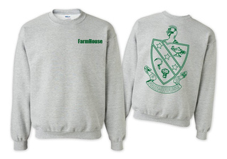 FarmHouse Fraternity World Famous Crest - Shield Crewneck Sweatshirt- $25!