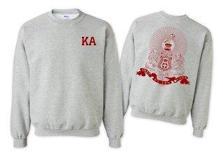 Kappa Alpha World Famous Crest - Shield Printed Crewneck Sweatshirt- $25!