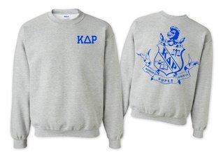 Kappa Delta Rho World Famous Crest - Shield Crewneck Sweatshirt- $25!
