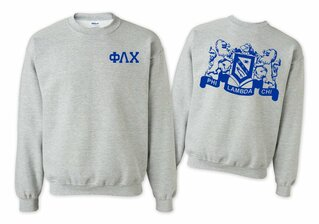 Phi Lambda Chi World Famous Crest - Shield Crewneck Sweatshirt- $25!