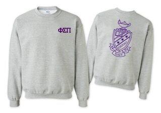 Phi Sigma Pi World Famous Crest - Shield Crewneck Sweatshirt- $25!