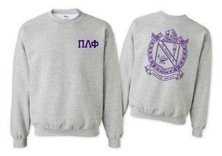 Pi Lambda Phi World Famous Crest - Shield Printed Crewneck Sweatshirt- $25!