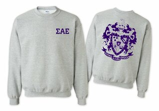 Sigma Alpha Epsilon World Famous Crest - Shield Printed Crewneck Sweatshirt- $25!