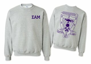 Sigma Alpha Mu World Famous Crest - Shield Printed Crewneck Sweatshirt- $25!