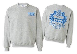 Tau Beta Sigma World Famous Crest - Shield Printed Crewneck Sweatshirt- $25!