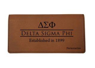 Delta Sigma Phi Leatherette Checkbook Cover