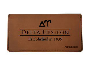 Delta Upsilon Leatherette Checkbook Cover