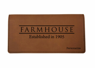 FarmHouse Fraternity Leatherette Checkbook Cover