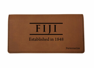 FIJI Fraternity Leatherette Checkbook Cover