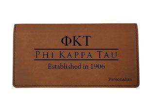 Phi Kappa Tau Leatherette Checkbook Cover