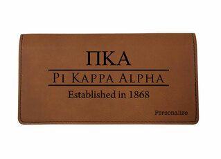 Pi Kappa Alpha Leatherette Checkbook Cover