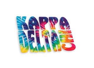 Kappa Delta Chi Tie-Dye Stack Sticker