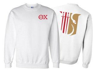 Theta Chi World Famous Crest - Shield Crewneck Sweatshirt- $25!