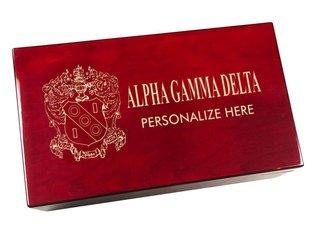 Alpha Gamma Delta Engraved Gavel Set