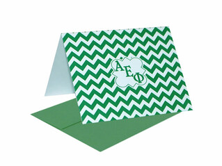Alpha Epsilon Phi Chevron Note Cards w/ Envelopes (10)