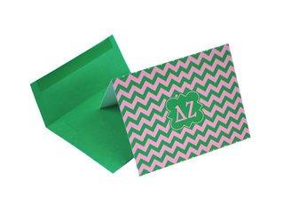 Delta Zeta Chevron Note Cards w/ Envelopes (10)