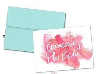 Gamma Phi Beta Watercolor Script Notecards(6)
