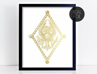 Pi Beta Phi Crest - Shield Foil Print