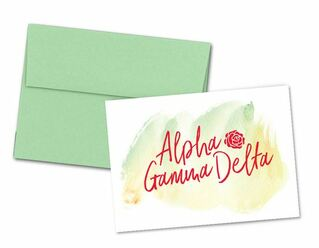 Alpha Gamma Delta Watercolor Script Notecards(6)
