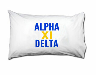Alpha Xi Delta Name Stack Pillow Cover