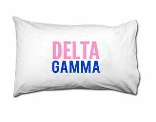 Delta Gamma Name Stack Pillow Cover