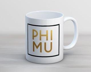 Phi Mu Faux Foil Coffee Mug