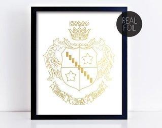 Zeta Tau Alpha Crest - Shield Foil Print