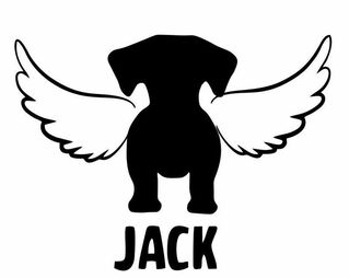In Memory of Dog Decals Stickers
