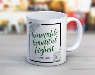 Kappa Delta Floral Motto Coffee Mug