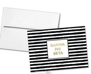 Gamma Phi Beta Striped Notecards(6)